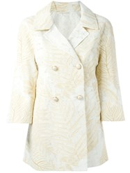 Ermanno Scervino Double Breasted Blazer Nude And Neutrals