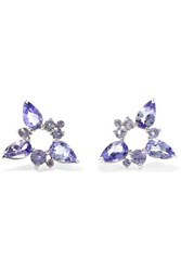 Fernando Jorge Electric Spark 18 Karat White Gold Tanzanite Earrings