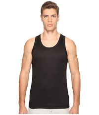 Dolce And Gabbana Polka Dot Silk Modal Tank Top Black