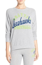 Junk Food 'Seahawks Football' Pullover Sweatshirt Dove Heather Grey Seahawks