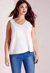 Missguided Plus Size Wide Strap Cami White White