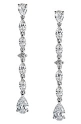 Lafonn Fancy Simulated Diamond Drop Earrings Silver Clear