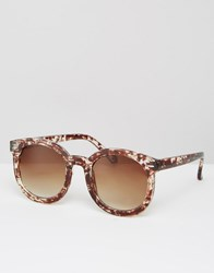Missguided Tortoiseshell Fame Sunglasses Brown