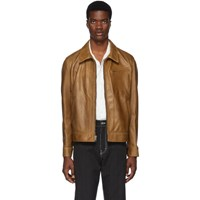 Schott Brown Waxy Cowhide Leather Delivery Jacket