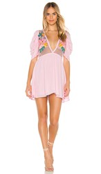 Cleobella Hayden Mini Dress In Pink.
