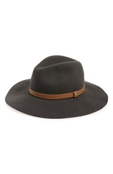 Rag And Bone Wide Brim Wool Fedora Grey Multi