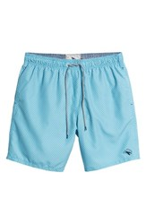 Ted Baker London Larkman Geo Print Swim Shorts Light Blue