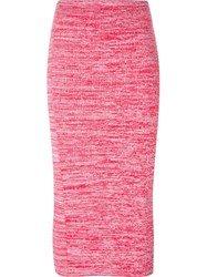 No21 Ribbed Knit Skirt Pink And Purple