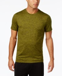 32 Degrees Crew Neck T Shirt Green Sprout Space Dye