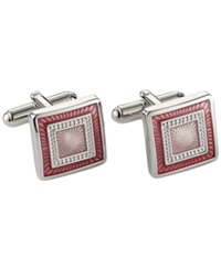 Geoffrey Beene Colored Square Cufflinks