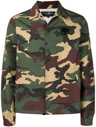 Hydrogen Camouflage Military Jacket Green