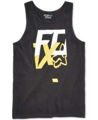 Fox Men's Head Over Heels Logo Print Cotton Tank Black