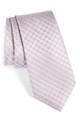 Calibrate Men's Forget Me Not Floral Silk Tie Pink