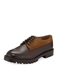 Hender Scheme Percy Leather And Suede Lace Up Shoes Brown