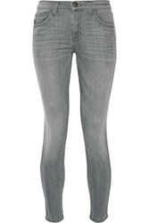 Current Elliott The High Waist Stiletto Skinny Jeans Gray