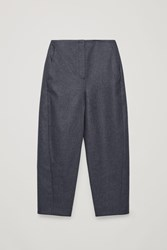 Cos Twisted Seam Wool Trousers Grey