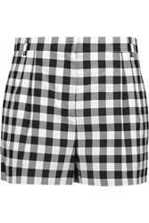 Dolce And Gabbana Gingham Cotton Shorts White