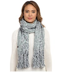 Ugg Grand Meadow Novelty Cable Fringe Scarf Navy Multi Scarves Blue