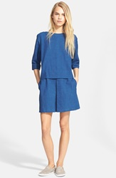 A.P.C. 'Moon' Mock Two Piece Denim Dress Indigo