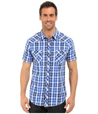 Rock And Roll Cowboy Short Sleeve Snap B1s6269 Blue Men's Clothing