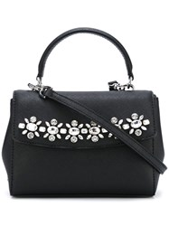 Michael Michael Kors Floral Embellished Medium Tote Black