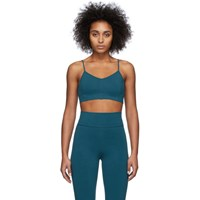 Live The Process Blue Corset Sports Bra