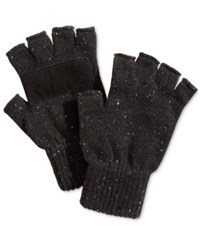 Ryan Seacrest Distinction Men's Donegal Fingerless Gloves Only At Macy's Black