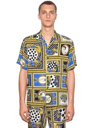 Versus By Versace Bowling Heritage Printed Viscose Shirt Multicolor