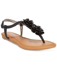 Rampage Dandylion Flat Sandals Women's Shoes Black