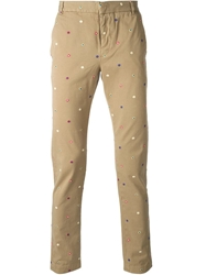 Band Of Outsiders Embroidered Trousers Nude And Neutrals