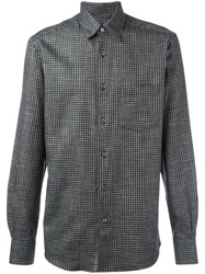 Ermenegildo Zegna Plaid Shirt Black