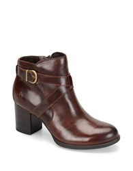 Born Carabel Full Grain Leather Ankle Boots Tan