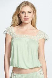 Eberjey 'Golden Girl' Lace Trim Bubble Hem Camisole Green