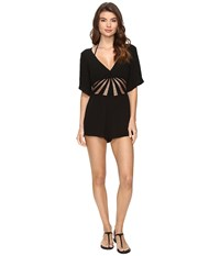 Becca Sunburst Romper Cover Up Black Women's Jumpsuit And Rompers One Piece