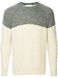 Tomorrowland Contrast Fitted Sweater White
