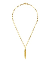 Gurhan 24K Gold Marquis Pendant Necklace