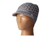 Calvin Klein Honeycomb Cable Cabbie Heathered Mid Grey Knit Hats Blue