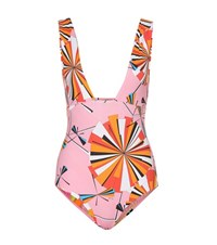 Emilio Pucci Beach Reversible Printed Swimsuit Multicoloured