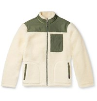 Faherty Shell Panelled Fleece Jacket Neutrals