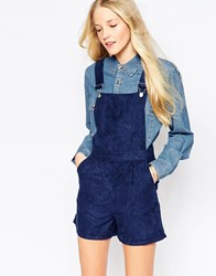 Influence Overall Romper In Suedette Navy