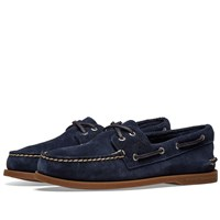 Sperry Topsider Authentic Original 2 Eye Suede Blue
