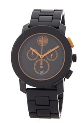 Movado Men's Swiss Quartz Bold Chrono Bracelet Watch Black