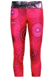 Desigual Tights Rose Red Pink