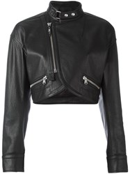 Diesel Black Gold 'Lama' Cropped Jacket Black