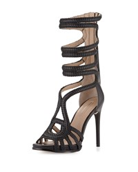 Bcbgmaxazria Elen Braided Leather Sandal Black