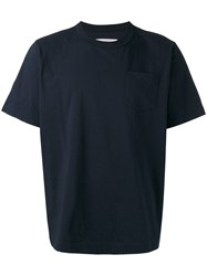 Sacai Crew Neck T Shirt Blue