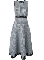 Alexander Wang Houndstooth A Line Dress Black
