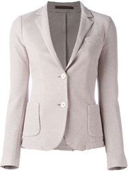 Eleventy Single Breasted Blazer Nude And Neutrals