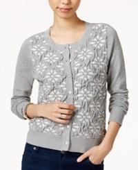 Maison Jules Jacquard Cardigan Only At Macy's Grey
