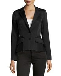 Zac Posen Ribbed Two Button Jacket Midnight